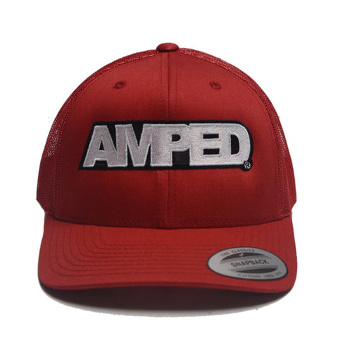 Power Trucker Snapback in Red