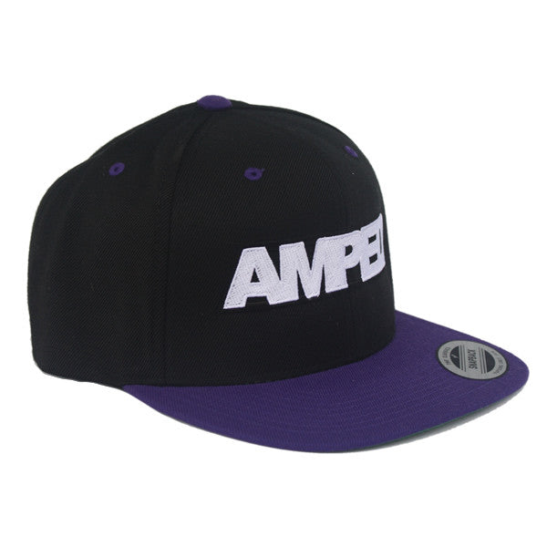 Power Flat Snapback in Black/Purple