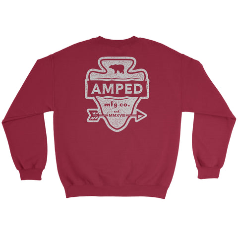 Arrow Crewneck / Cardinal