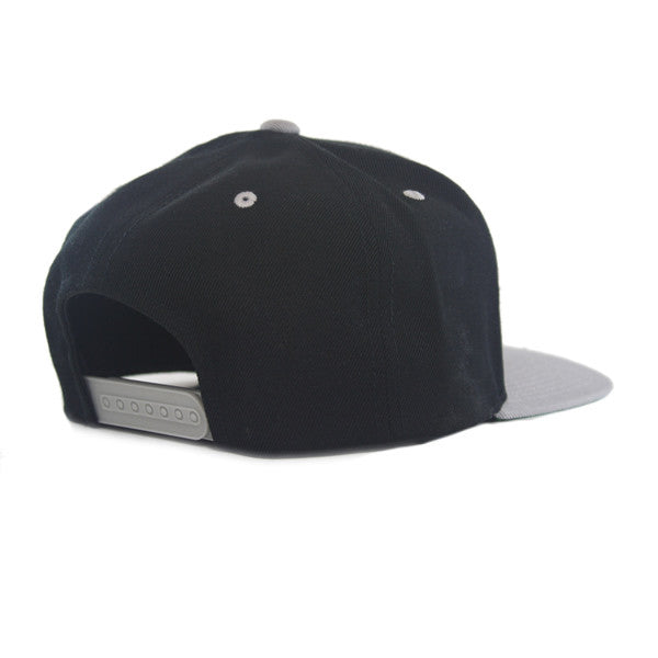 Icon Flat Snapback in Black/Silver