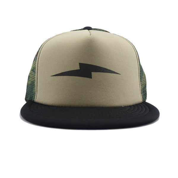Bolt Trucker Snapback in Black/Camo