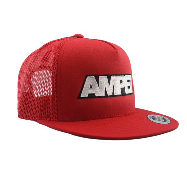 Power Trucker Flat Snapback in Red