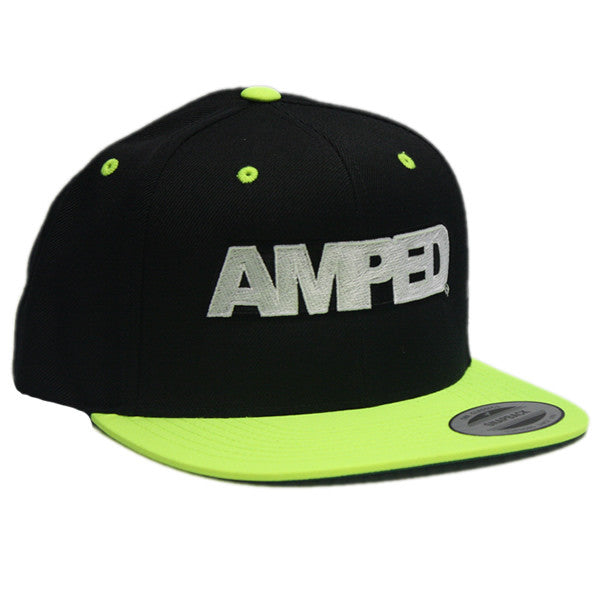 Power Flat Snapback in Black/Neon Green