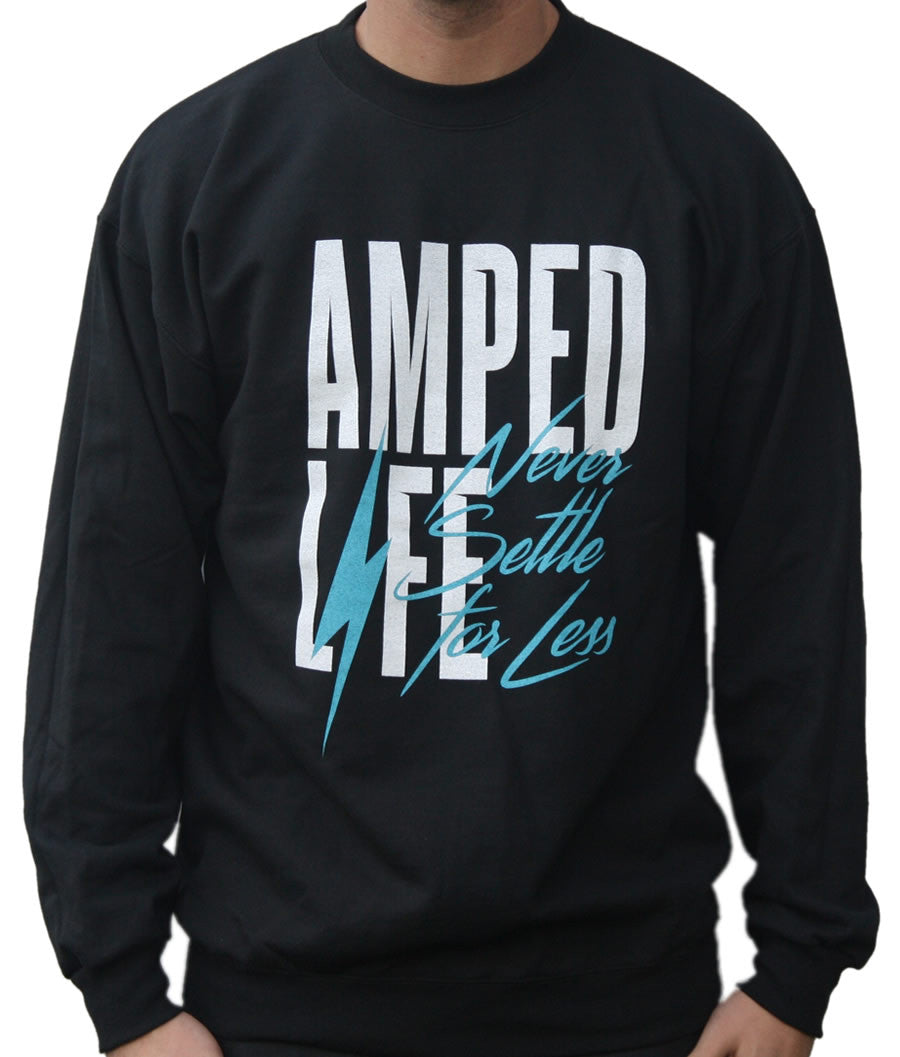 AmpedLife Crewneck / Black Sale
