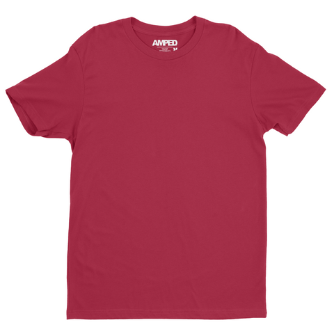 Basic Crew Tee Premium Sueded / Cardinal