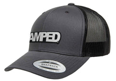 Power Trucker Snapback in Charcoal/Black