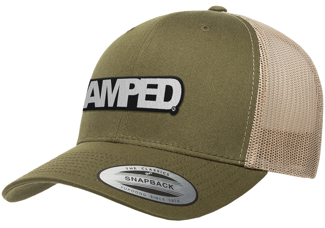 Power Trucker Snapback in Moss/Khaki