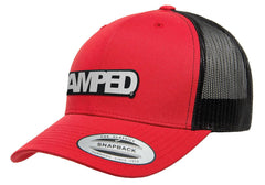 Power Trucker Snapback in Red/Black
