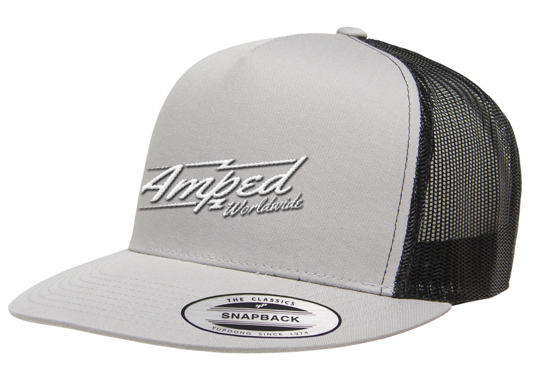 Wordwide Trucker Stretch Fit in Silver/Black