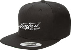 Worldwide Flat Snapback in Black