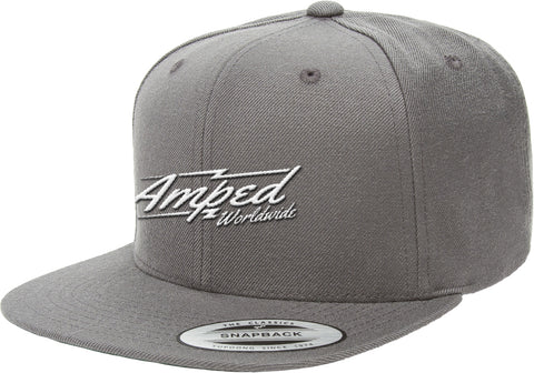 Worldwide Flat Snapback in Dark Grey