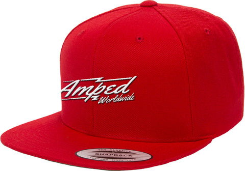 Worldwide Flat Snapback in Red
