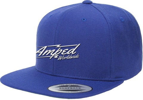 Worldwide Flat Snapback in Royal