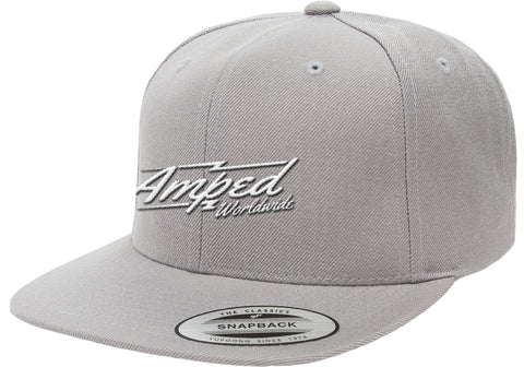 Worldwide Flat Snapback in Silver