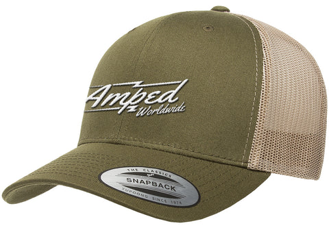 Worldwide Trucker Snapback in Moss/Khaki