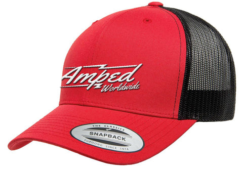 Worldwide Trucker Snapback in Red/Black