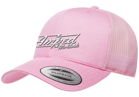 Worldwide Trucker Snapback in Pink