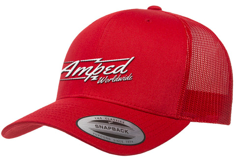 Worldwide Trucker Snapback in Red