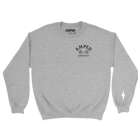 Moto Life Crewneck / Heather Grey