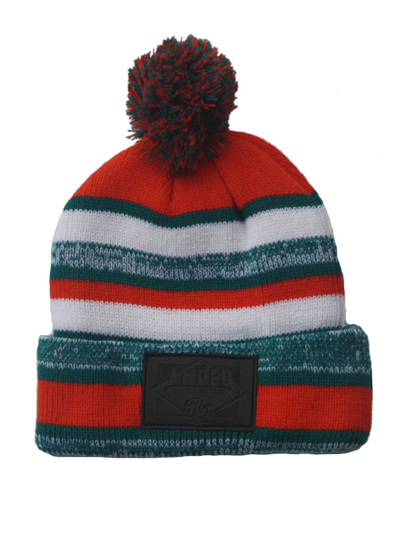 NFL Beanie in Orange/Aqua Green/White