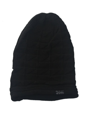 Sag Crimped Beanie in Black