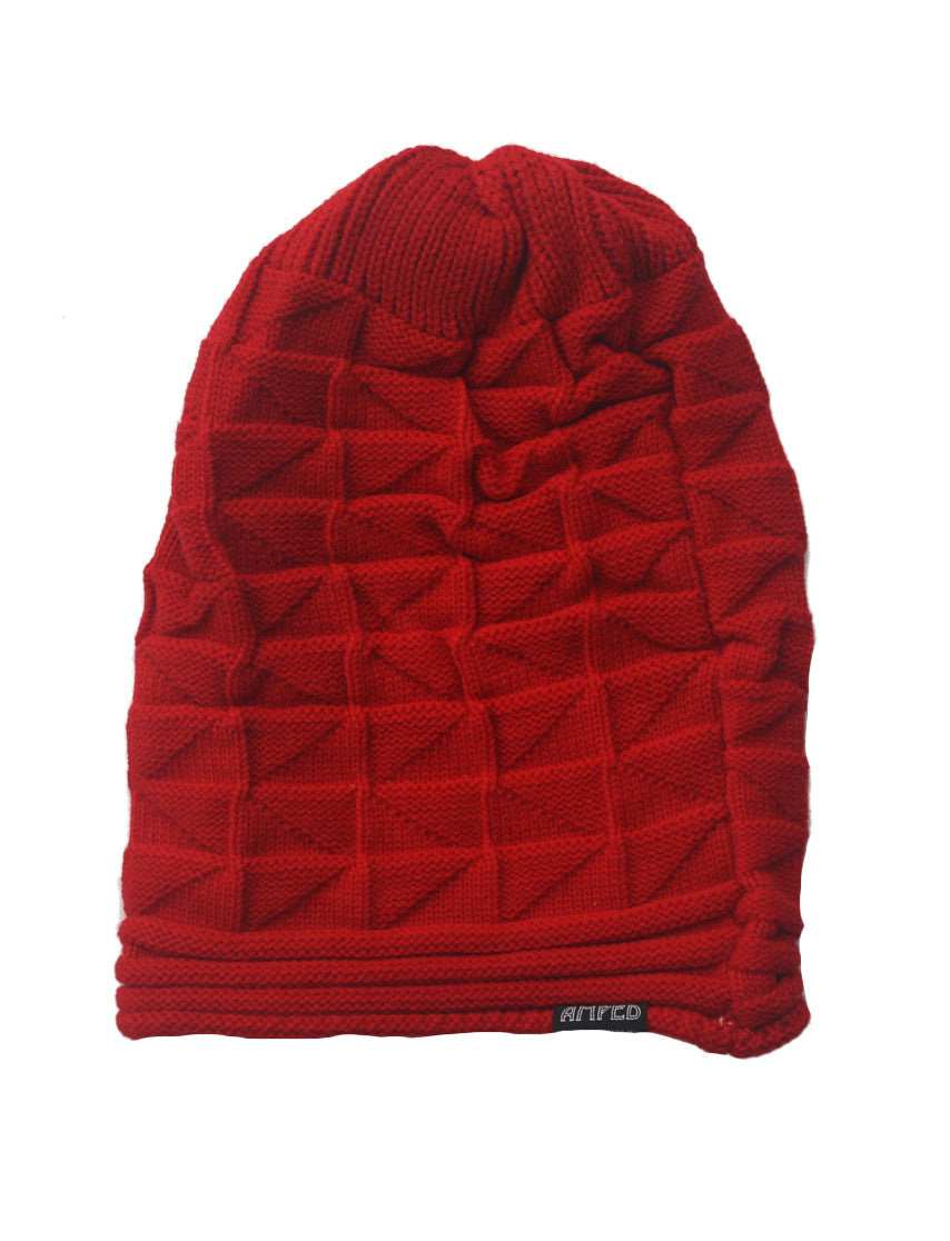 Sag Crimped Beanie in Red