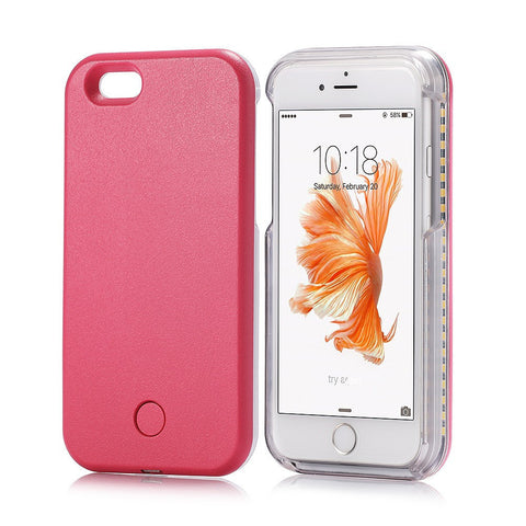 new arrival e21aa 6c168 LED Light Up Selfie Case For iPhone 6/6S or iPhone 6 Plus/6S Plus