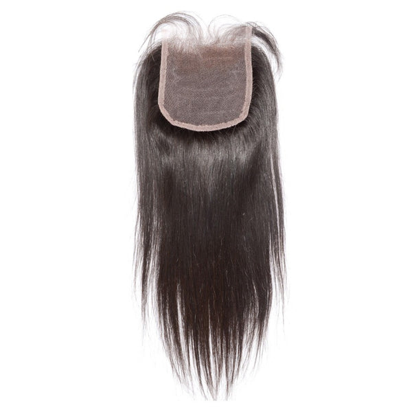 Virgin Straight Silk Base Closures