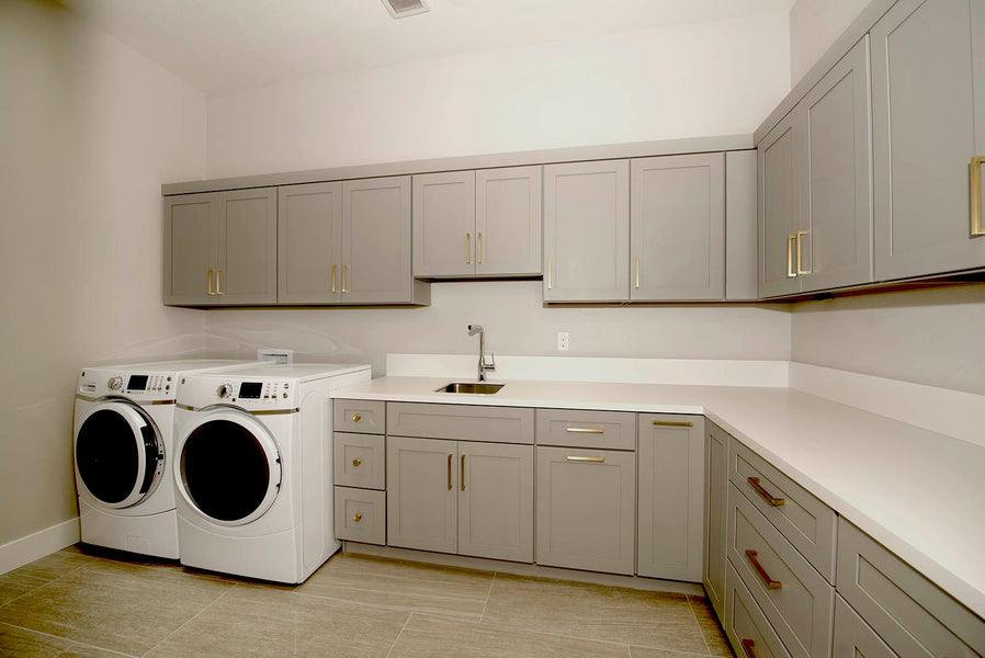Alice French Grey Kitchen and Laundry Room