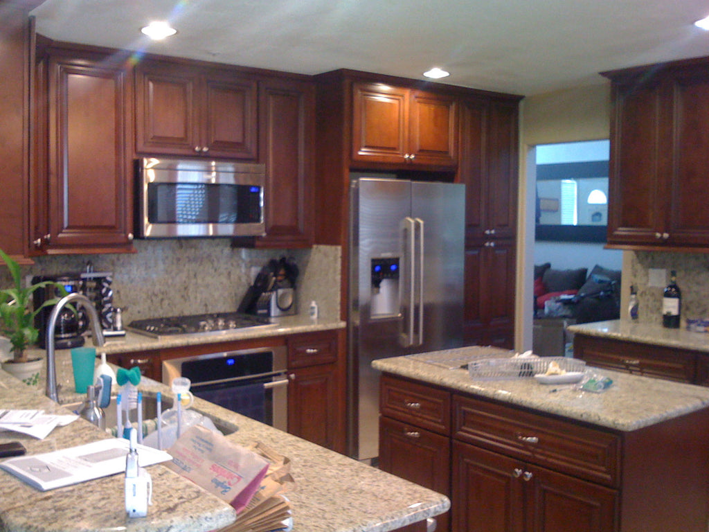 Santa Cecilia Granite Kitchen Completed Projects Tagged Walnut Cabinets Santa Cecilia