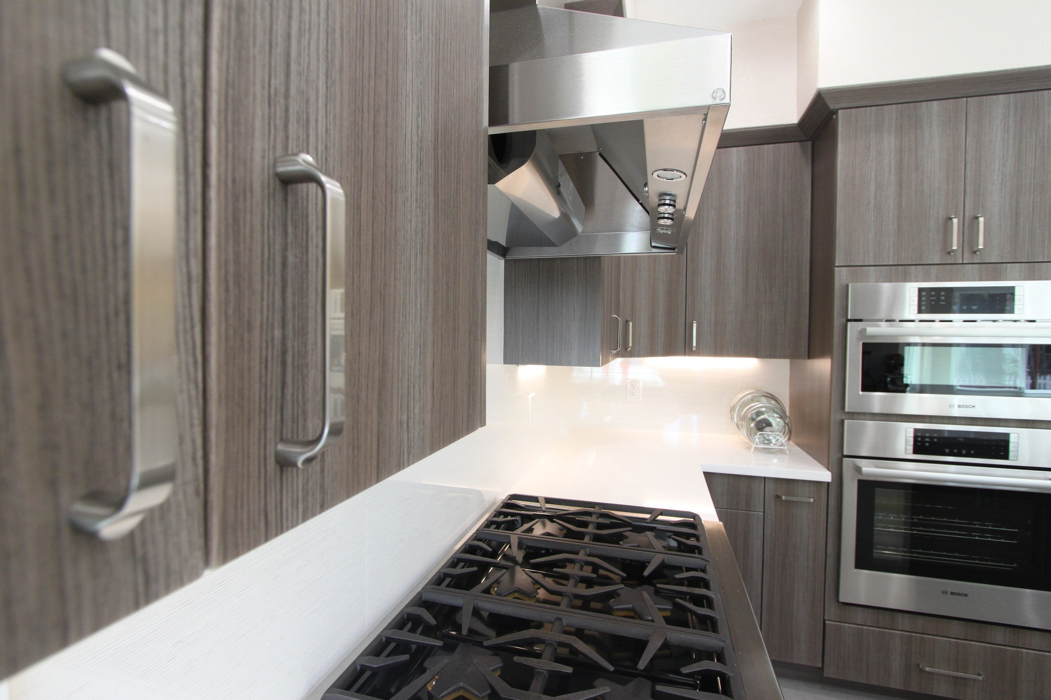 Contemporary Kitchen Craft Frame less Kitchen cabinets with Water