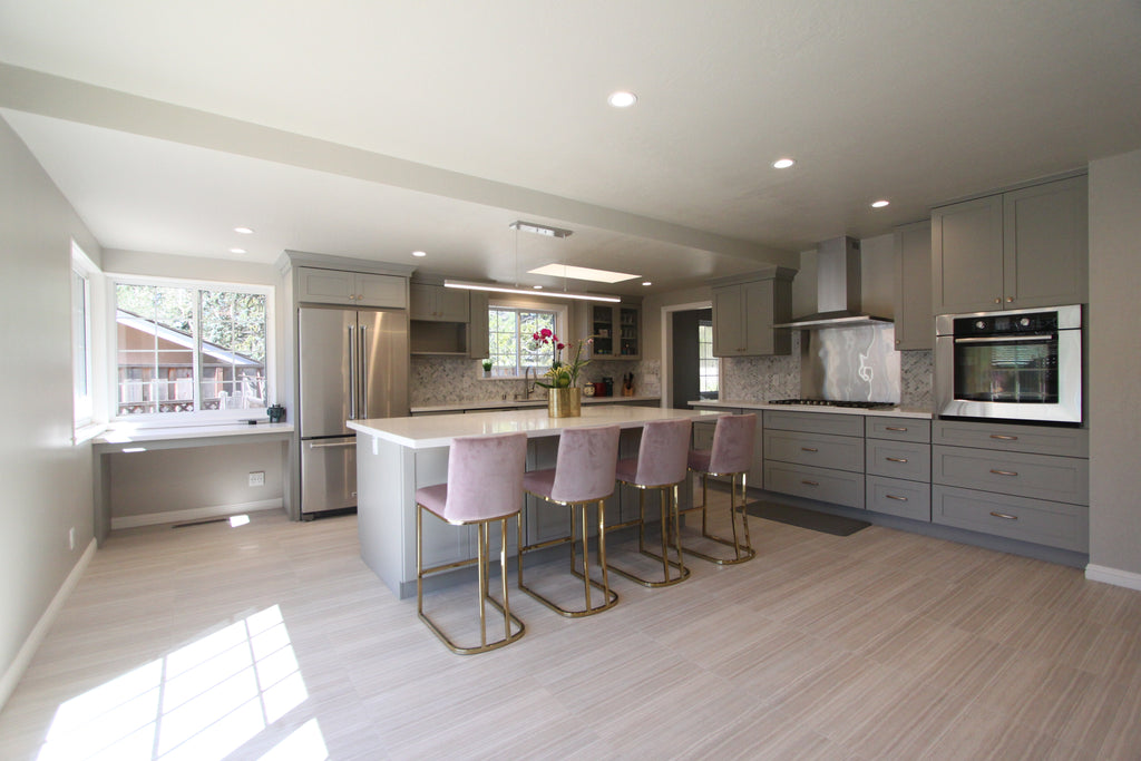 Valley View Ct San Mateo Alice Cabinetry French Grey Hb Kitchen Bath Inc