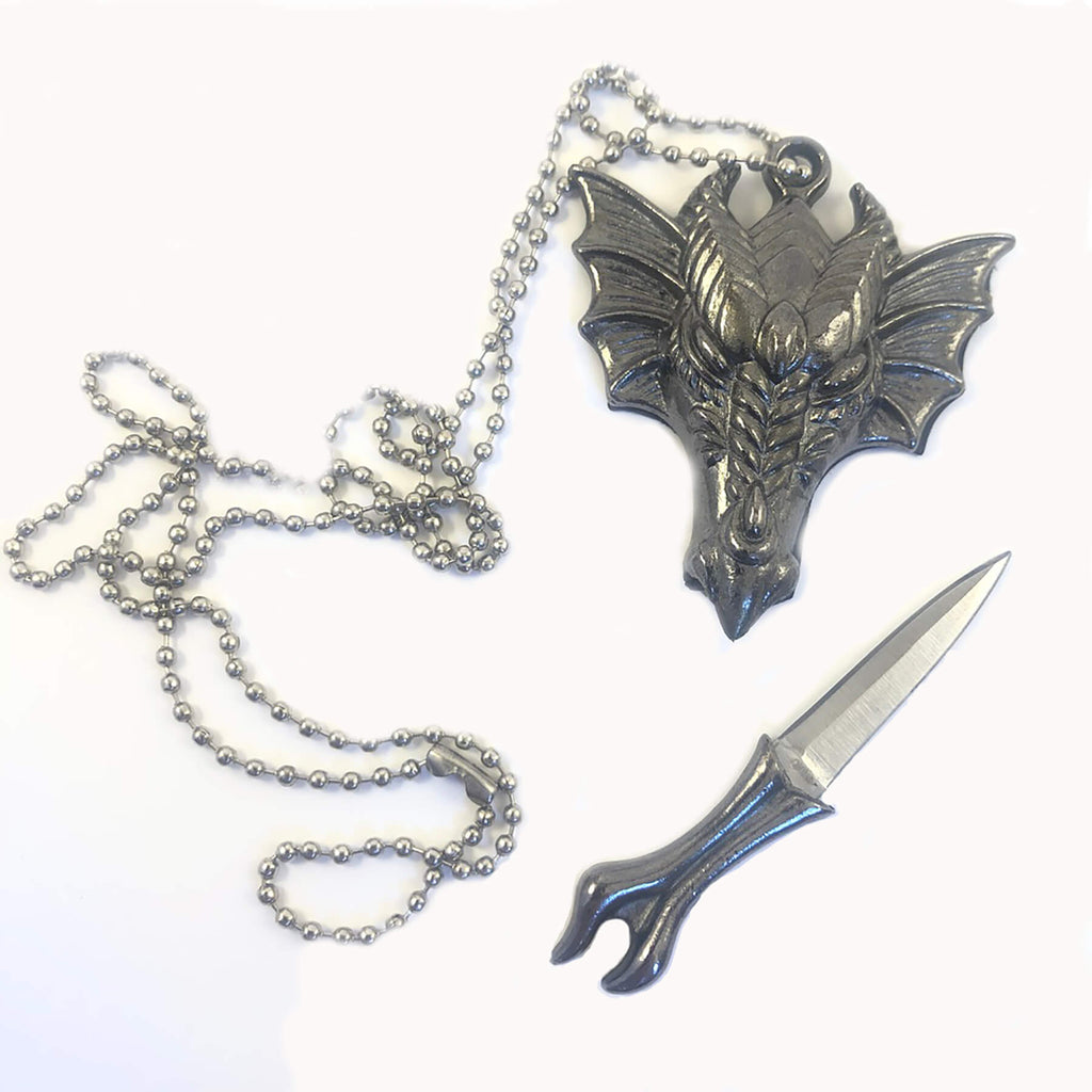 Necklace - Pendant - Dragon Dagger Athame Necklace