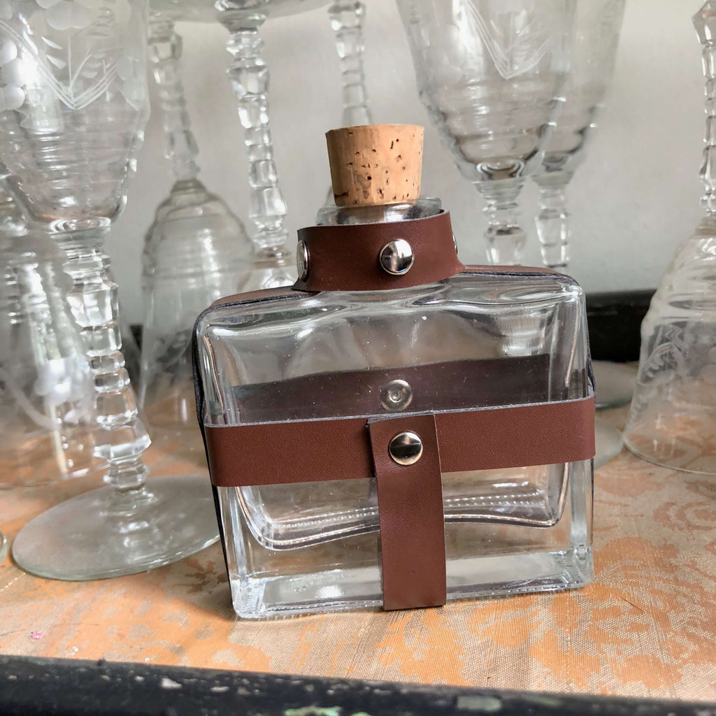Leather Trimmed Ink Well/Flask