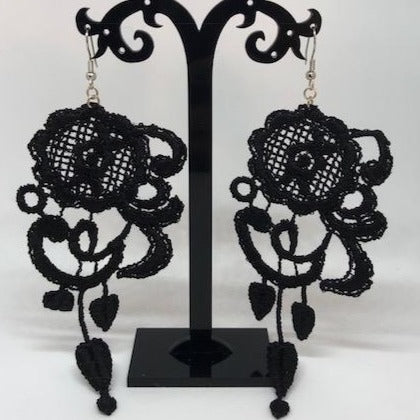 "Venetian Lace Earrings (5.5"")"