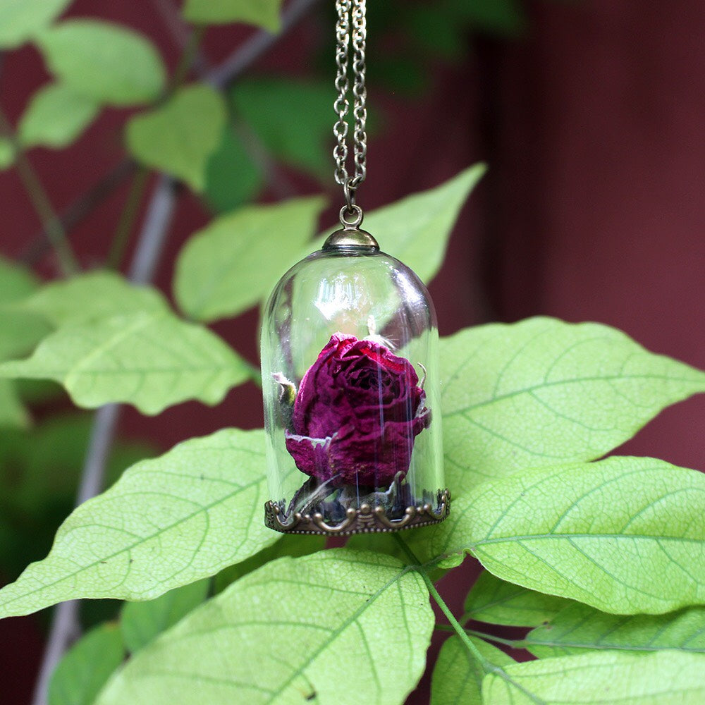 Necklace - Terrarium Rose or Fly Trap
