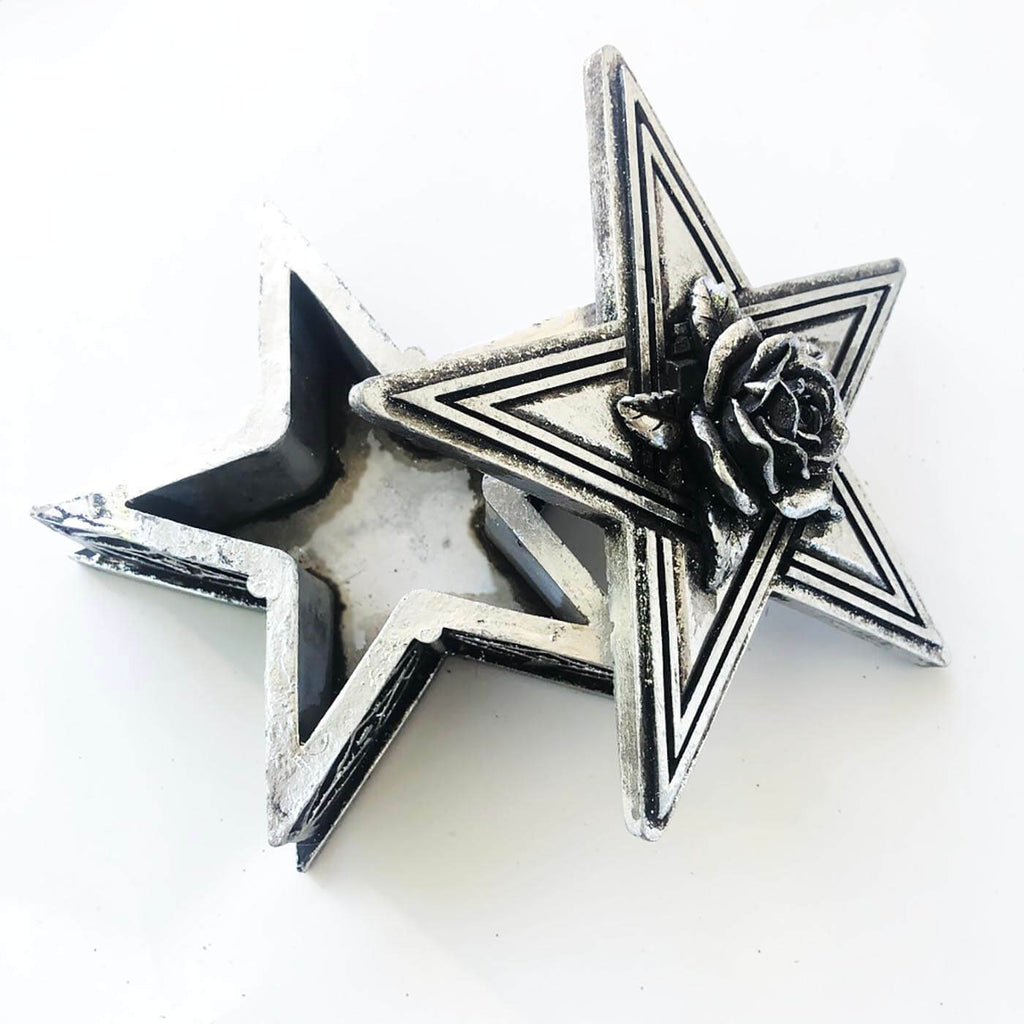 Stash box - Jewelry Trinket Box - Decorative Star