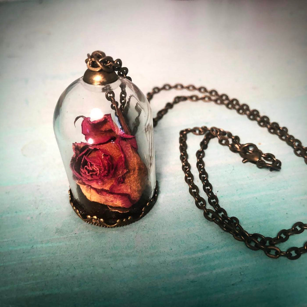 Necklace - Rose Terrarium