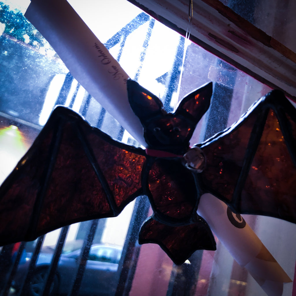 Rufus Bat - Stained Glass Ornament