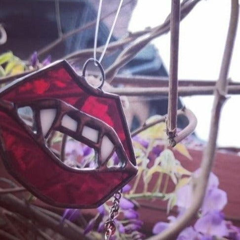 Stained Glass Fang Suncatcher
