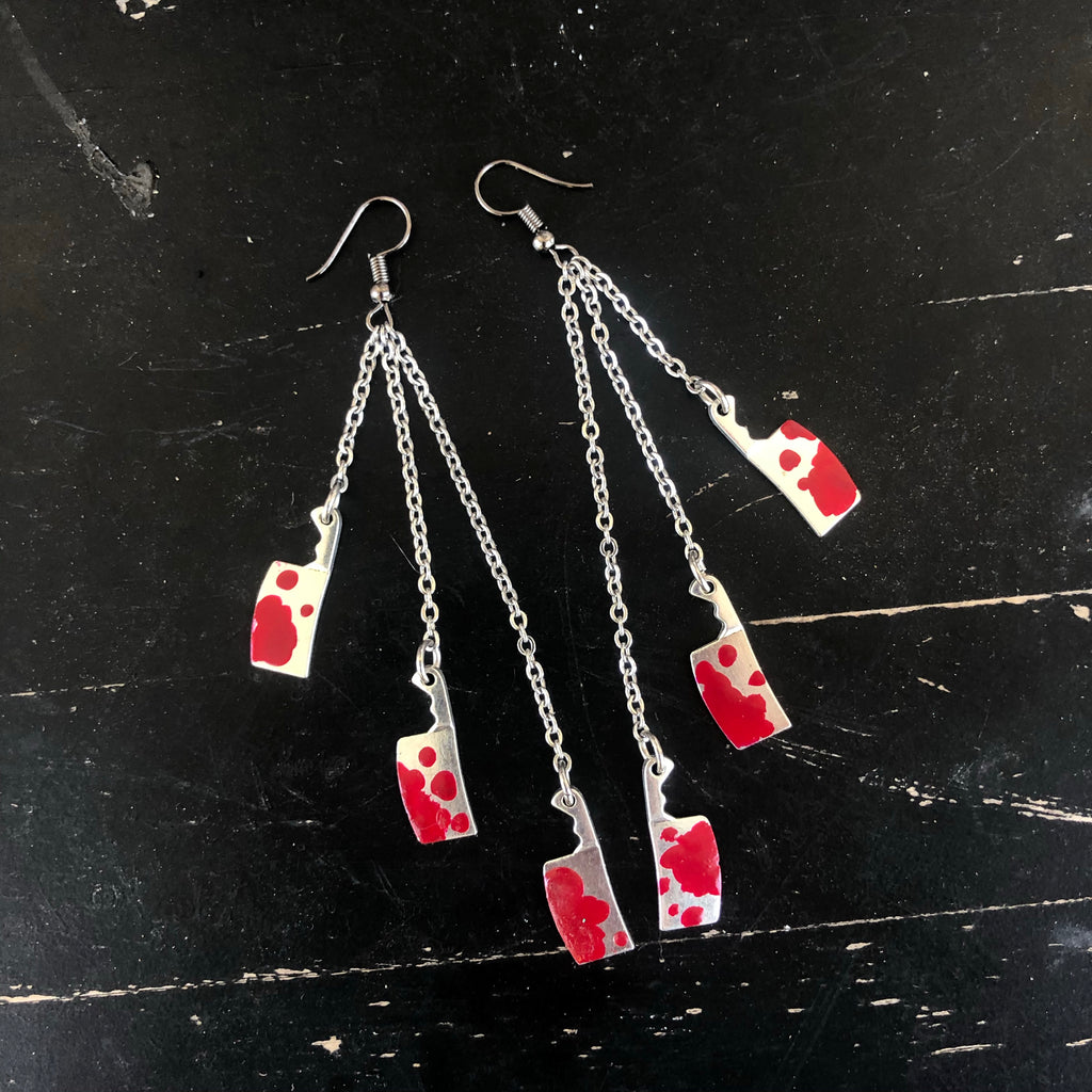 Earrings - Slasher dangle earrings