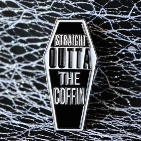 Enamel Coffin Pins