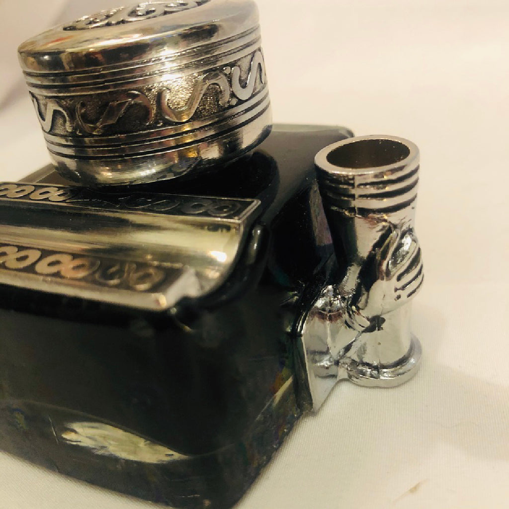 Glass Inkwell