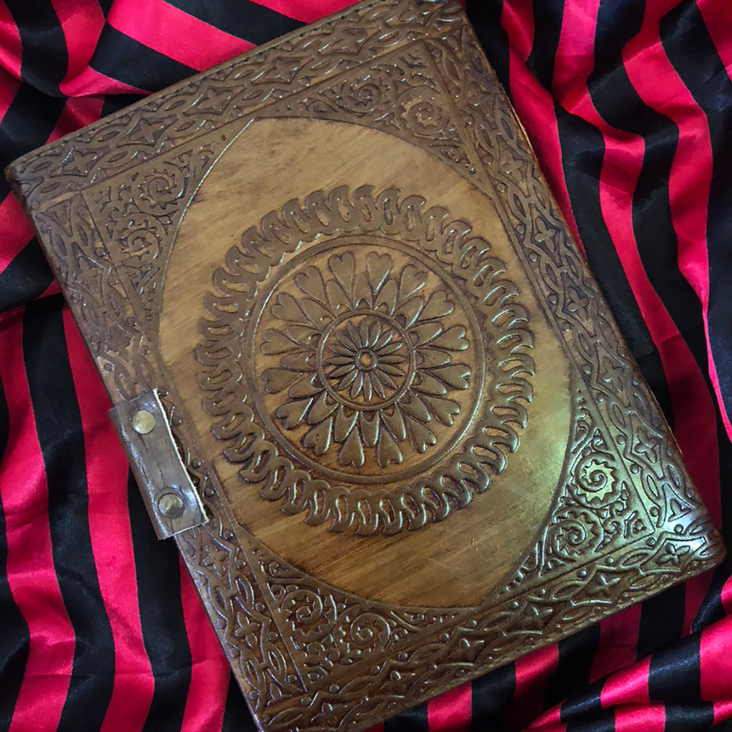 Leather Bound Journal Spirit Board Planchette - 6 x 8""
