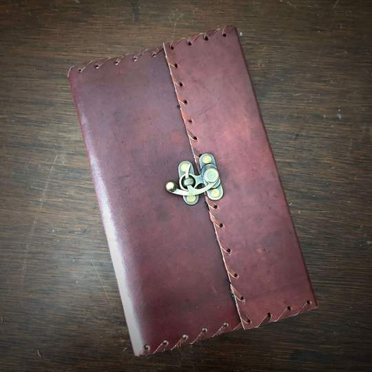 leather journal fluer de lis