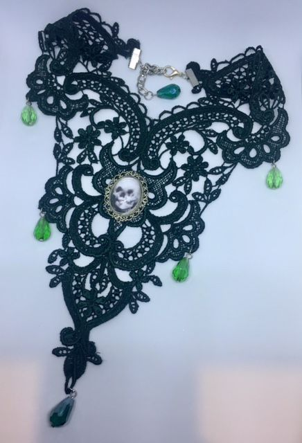 Necklace - Gothic Venetian Lace creations