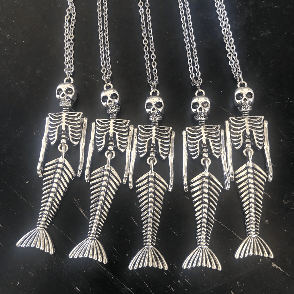 Necklace - Pendant - Skeleton Mermaid