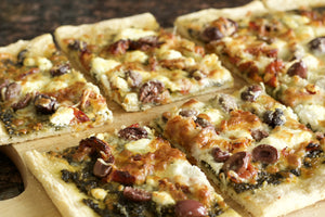 Pesto Goat Cheese Sundried Tomato Pizza