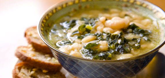 White Bean and Tuscan Kale w/ Sausage Soup