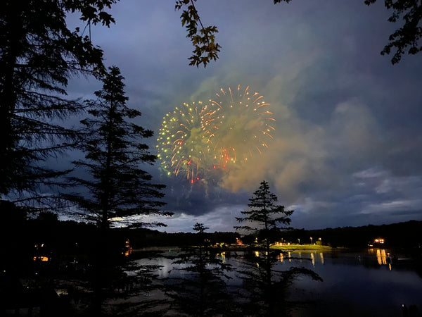 Stagshead Lakehouse: Fireworks from the Upper Deck